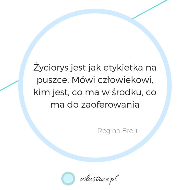 jak napisać życiorys - wlustrze.pl grafika z cytatem